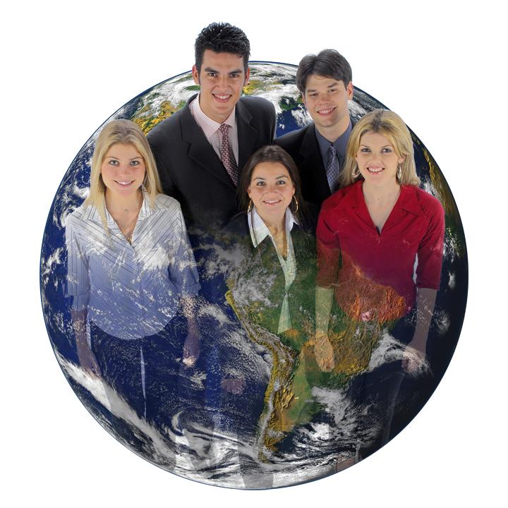 globe + people